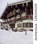 inn in snowy reit im winkl ...   Shutterstock . vector #1282434235