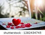 heart symbol model set on...   Shutterstock . vector #1282434745