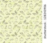 assorted vegetables seamless... | Shutterstock .eps vector #128243906