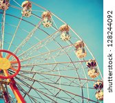 Vintage Retro Ferris Wheel On...