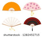 set of fans on a white... | Shutterstock .eps vector #1282452715