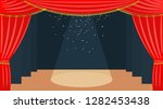 theater stage with a red... | Shutterstock .eps vector #1282453438