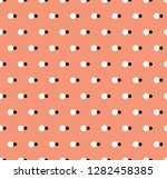 vector background. polka dot... | Shutterstock .eps vector #1282458385