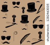 vector seamless pattern. hand... | Shutterstock .eps vector #1282463035