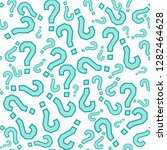quiz seamless pattern. question ... | Shutterstock .eps vector #1282464628