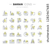 set of vector line icons and... | Shutterstock .eps vector #1282467685