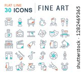 set of vector line icons of... | Shutterstock .eps vector #1282469365