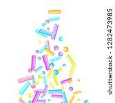 sprinkles grainy. sweet... | Shutterstock .eps vector #1282473985