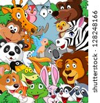 animal cartoon background | Shutterstock .eps vector #128248166