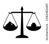 scales with weight icon.... | Shutterstock .eps vector #1282482685