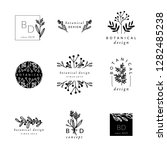 a set of nine modern and... | Shutterstock .eps vector #1282485238