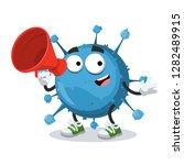with megaphone cartoon blue...   Shutterstock .eps vector #1282489915