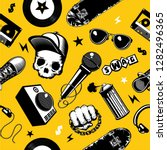 hip hop seamless pattern with... | Shutterstock .eps vector #1282496365
