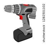 battery screwdriver drill... | Shutterstock .eps vector #1282501102