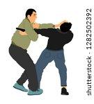 self defense battle vector...   Shutterstock .eps vector #1282502392