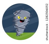 funny tornado. strong wind.... | Shutterstock .eps vector #1282506052