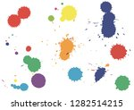 paint splatter background.... | Shutterstock .eps vector #1282514215