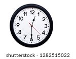 time concept with black clock... | Shutterstock . vector #1282515022