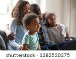 Happy Black Family With...