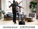 happy loving black family wife... | Shutterstock . vector #1282522468