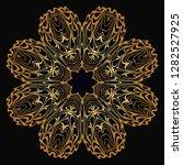 modern decorative floral color...   Shutterstock .eps vector #1282527925