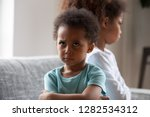 angry african american little... | Shutterstock . vector #1282534312