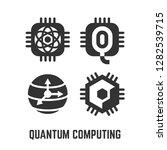 quantum computing black glyph...   Shutterstock .eps vector #1282539715