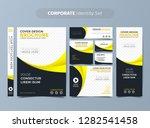 yellow corporate identity set  | Shutterstock .eps vector #1282541458