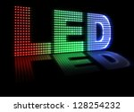 Illustration Of Led Spelled Ou...