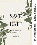 save the date template with... | Shutterstock .eps vector #1282550692