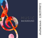 music background with colorful... | Shutterstock .eps vector #1282559872