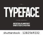 vector typeface bold style... | Shutterstock .eps vector #1282569232