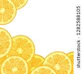 vector template with citrus ... | Shutterstock .eps vector #1282588105