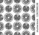 vector black and white seamless ... | Shutterstock .eps vector #1282588138