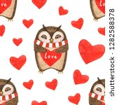 watercolor cartoon cute happy...   Shutterstock . vector #1282588378