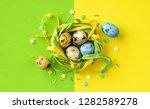 stylish easter eggs vibrant...   Shutterstock . vector #1282589278