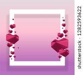 trendy design template .pink... | Shutterstock .eps vector #1282593622