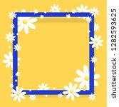 trendy design template .yellow... | Shutterstock .eps vector #1282593625