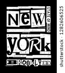 new york  brooklyn vector... | Shutterstock .eps vector #1282606525