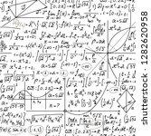 math vector seamless endless... | Shutterstock .eps vector #1282620958