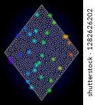 glossy polygonal mesh filled... | Shutterstock .eps vector #1282626202