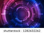 vector digital futuristic... | Shutterstock .eps vector #1282632262