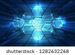 abstract vector blue technology ... | Shutterstock .eps vector #1282632268