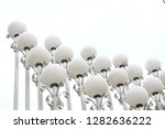 repetition white ball lamp with ... | Shutterstock . vector #1282636222