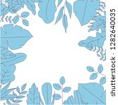 beautiful leaf design of vector.... | Shutterstock .eps vector #1282640035