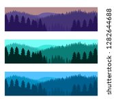 horizontal realistic forest... | Shutterstock .eps vector #1282644688