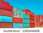 container logistics... | Shutterstock . vector #1282646608