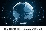 global network connection and... | Shutterstock . vector #1282649785