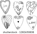 vector graphic black hearts... | Shutterstock .eps vector #1282650838