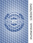 indigenous blue badge with... | Shutterstock .eps vector #1282670092